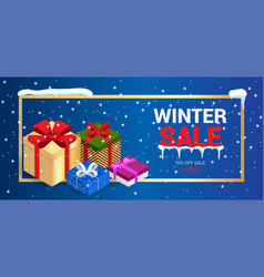 Winter christmas sale banner vector