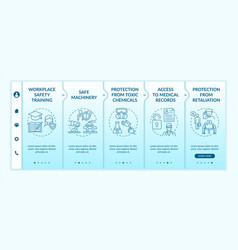 Workplace safety rights onboarding template vector