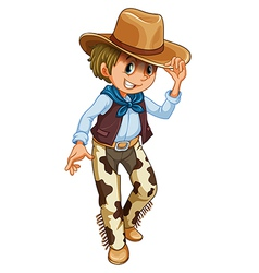 A young cowboy vector image vector image