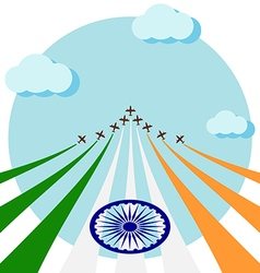 Air show for celebrate the national day of India vector image vector image