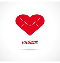 Love letter symbol Lovemail vector image