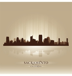 Sacramento California skyline city silhouette vector image vector image