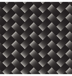 Seamless Black And White Halftone Geometric vector image