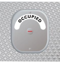 secure door occupied vector image vector image
