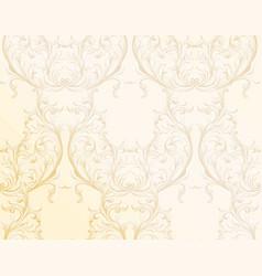 baroque golden pattern background ornament decor vector image