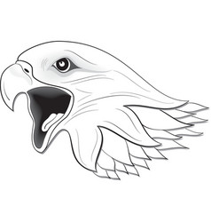 eagle face vector image vector image