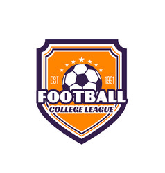 football college league soccer badge icon vector image vector image