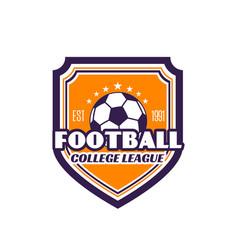 football college league soccer badge icon vector image