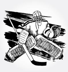 hockey player2 vector image vector image
