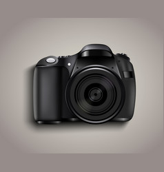 realistic photo camera professional photo studio vector image vector image