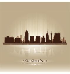 San Antonio Texas skyline city silhouette vector image vector image