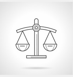 Scales of justice flat line icon vector