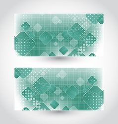 Set cards with abstract squares vector image