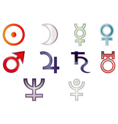 signs of the planets vector image