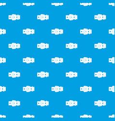 black metal belt buckle pattern seamless blue vector image