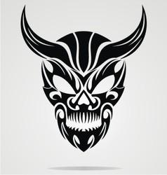 Demon Head Tribal vector image vector image