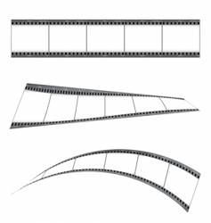 grunge film strip vector image vector image