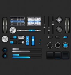 Gui for mobile device vector image