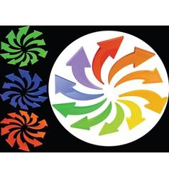 multicolour palette vector image vector image