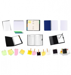 office and school supplies vector image vector image