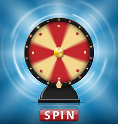 realistic 3d spinning fortune wheel isolated with vector image vector image