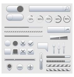 Set of web elements vector image vector image