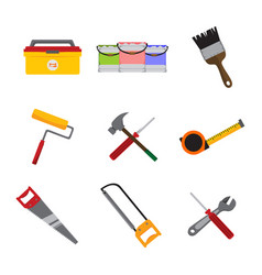simple home repair intrument tools graphic vector image