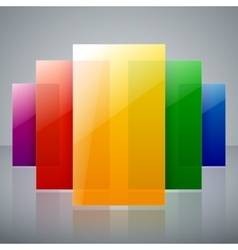 Abstract infographic colorful rainbow shiny vector image