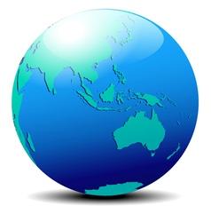 Asia Australia Far East vector image vector image