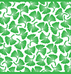 background pattern with ginkgo biloba plants vector image vector image