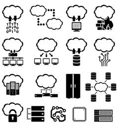 Big data and cloud computing vector image