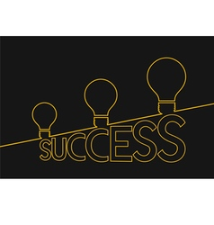 Light bulb ideas to success Idea concept vector image vector image