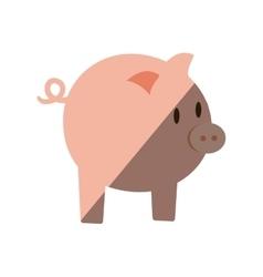 piggy money bank flat icon vector image vector image