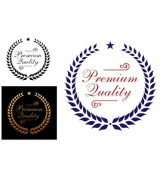 Premium quality laurel wreath logo or emblem vector image