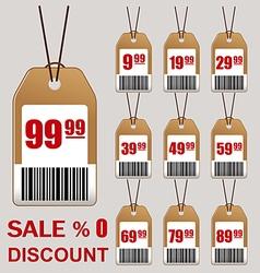 Sale price tag icon vector image