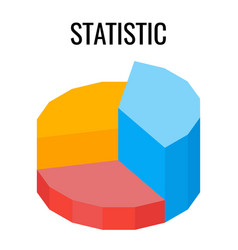 statistic round chart infographic template vector image