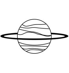 uranus planet solar system line vector image vector image