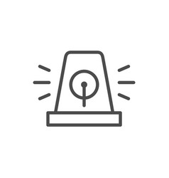 alarm siren line outline icon vector image