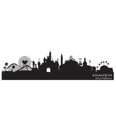 Anaheim california city skyline silhouette vector