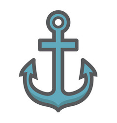 Anchor filled outline icon navigation nautical vector
