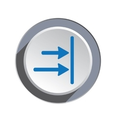 Arrow to right icon Move direction cursor sign vector image