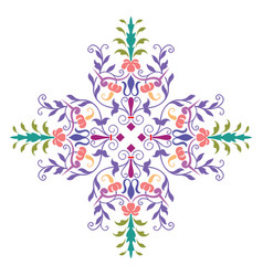 beautiful decoration design plants and flowers vector image