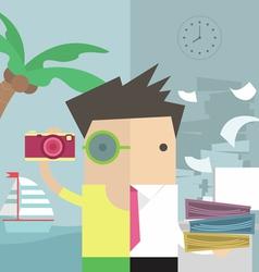 Businessman vacation vector image