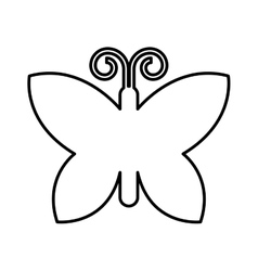 Butterfly isolated icon design vector