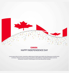 canada happy independence day background vector image