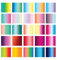 Collection of 25 vertical colorful gradients vector