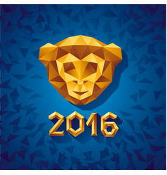 concept of gold polygonal vector image