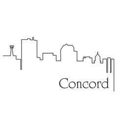 concord city one line drawing vector image
