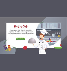 Culinary concept restaurant business vector