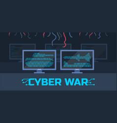 Cyber war concept vector